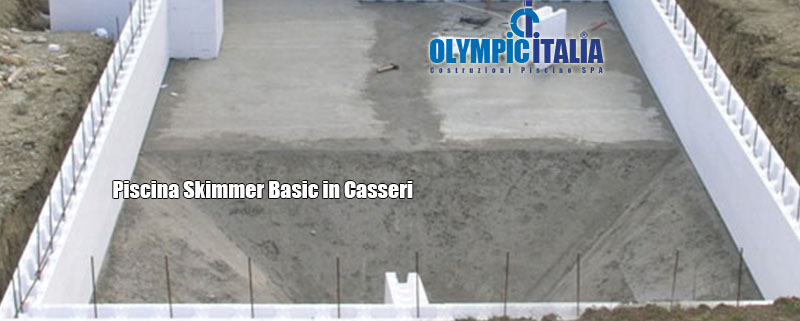 Piscina Skimmer Tradizionale bocca sbasata struttura in Casseri